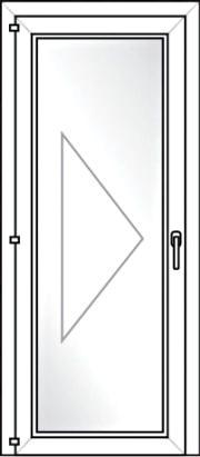 Porta de Giro 1 folha e Vidro Único