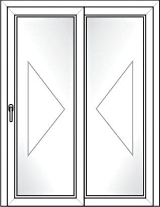 Porta Deslizante 2 Folhas