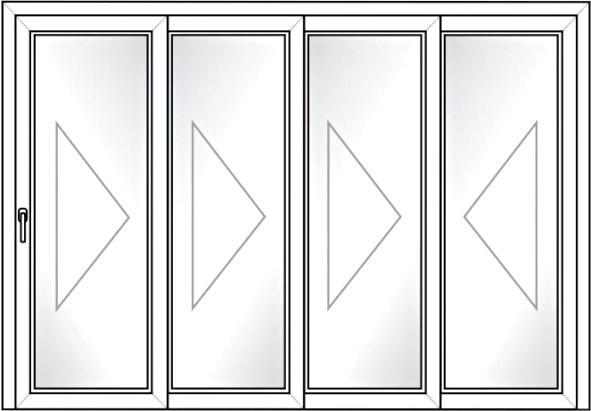 Porta Deslizante 4 Folhas